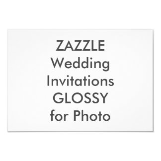 "SEMI-GLOSS 5"" x 3.5"" Wedding Invitations"