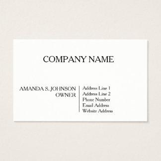 Semi Gloss Business Card