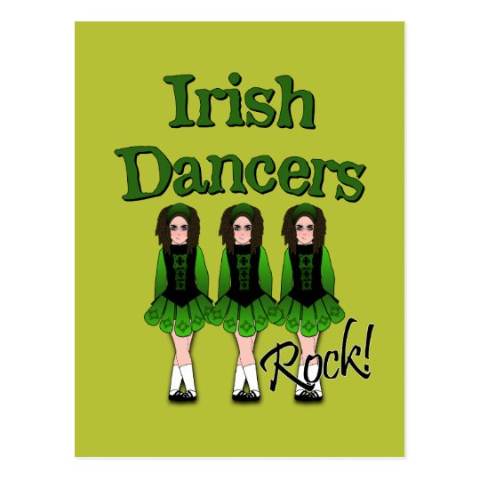 Semi-Goth Irish Dancers Postcard