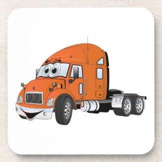 Semi naranja del taxi del camión posavasos