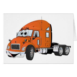 Semi naranja del taxi del camión tarjeta de felicitación