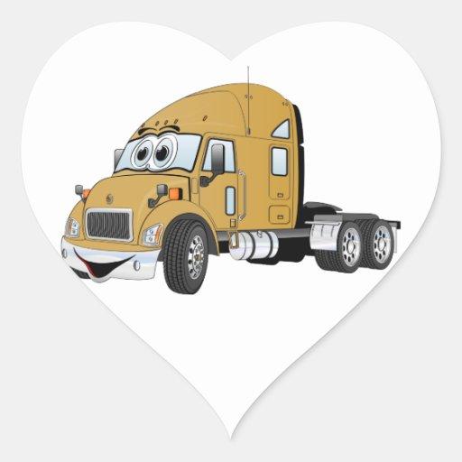 Semi oro del taxi del camión pegatina en forma de corazón