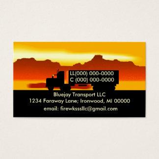 Semi OTR Trucking Transport Truckers Business Card