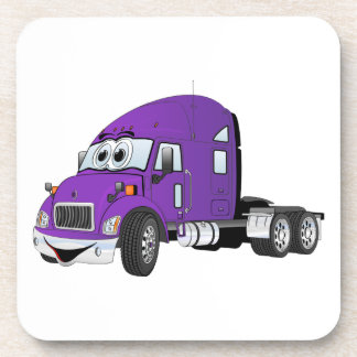 Semi púrpura del taxi del camión posavaso