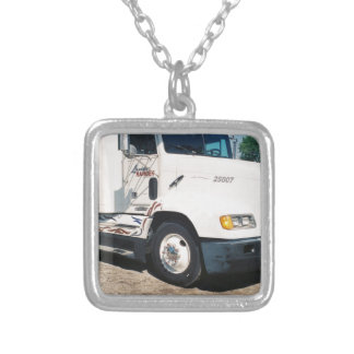 semi retired silver plated necklace