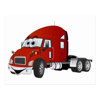 Semi rojo del taxi del camión postales