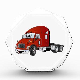Semi rojo del taxi del camión