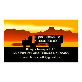 Semi tarjeta de visita de trueque de los camionero