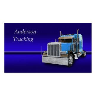 Semi tarjeta de visita del camión