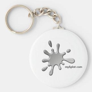 Semi Tournament Paintball - mySplat.com Basic Round Button Keychain