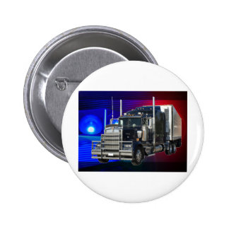 SEMI TRACTOR TRAILER WITH POLICE LIGHTS BACKGROUND BUTTON