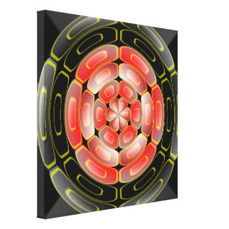 Semi-transparent algorithmic art canvas print