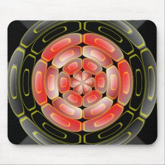 Semi-transparent algorithmic art mouse pad