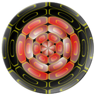 Semi-transparent algorithmic art plate
