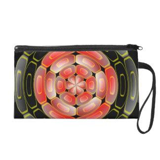 Semi-transparent algorithmic art wristlet purse