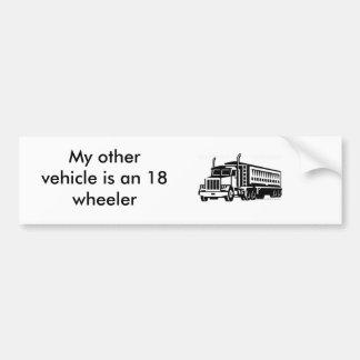 semi-transport-truck_TRN_075 My other vehicle Bumper Stickers