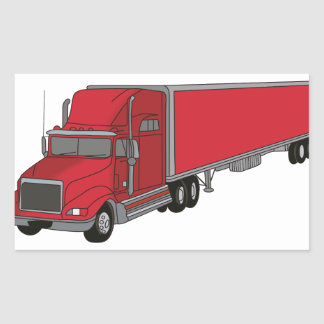 Semi-Truck 1 Rectangular Sticker