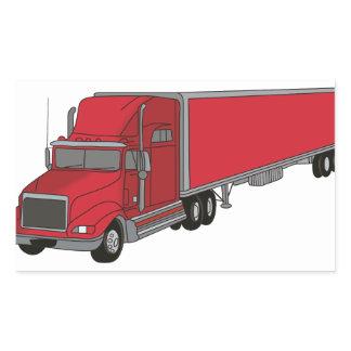 Semi-Truck 1 Rectangular Sticker
