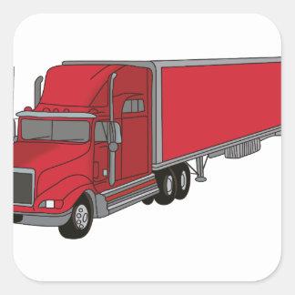 Semi-Truck 1 Square Sticker