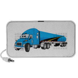Semi Truck Blue Tanker Trailer Cartoon iPhone Speaker