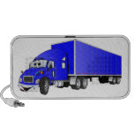 Semi Truck Blue Trailer Cartoon Mini Speaker