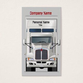 Semi Truck Business Profile Card