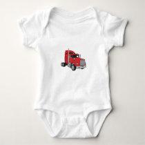Semi Truck Cab Baby Bodysuit
