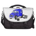 Semi Truck Cab Blue Laptop Computer Bag