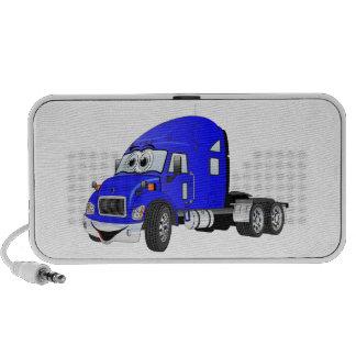 Semi Truck Cab Blue Notebook Speakers