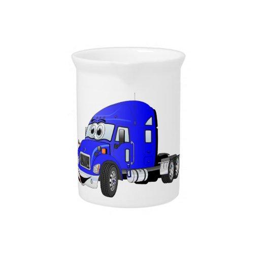 Semi Truck Cab Blue Pitchers