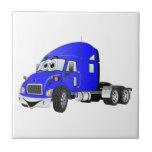 Semi Truck Cab Blue Tile