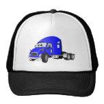 Semi Truck Cab Blue Trucker Hat