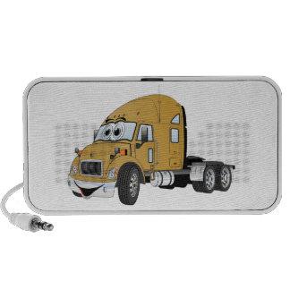 Semi Truck Cab Gold iPod Speakers