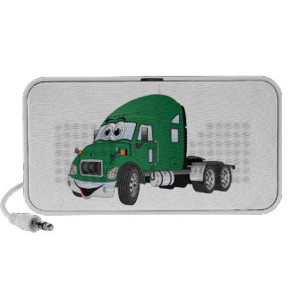 Semi Truck Cab Green iPhone Speaker