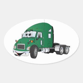 Semi Truck Cab Green Sticker