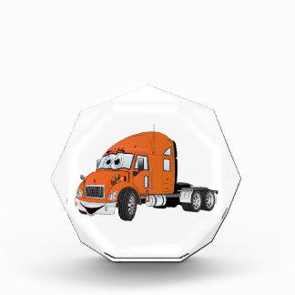Semi Truck Cab Orange Acrylic Award
