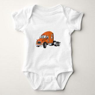 Semi Truck Cab Orange Baby Bodysuit