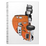 Semi Truck Cab Orange Spiral Notebook