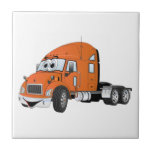 Semi Truck Cab Orange Tile