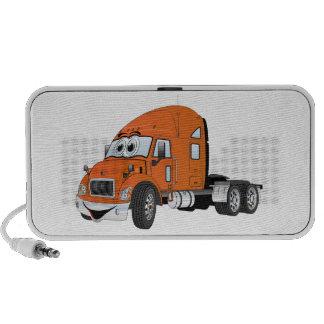Semi Truck Cab Orange Travel Speaker