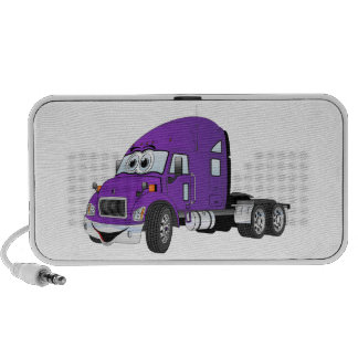 Semi Truck Cab Purple Portable Speakers