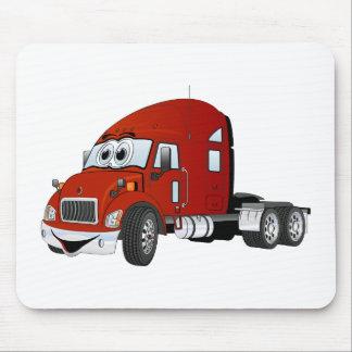 Semi Truck Cab Red Mousepads