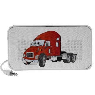 Semi Truck Cab Red Travel Speakers
