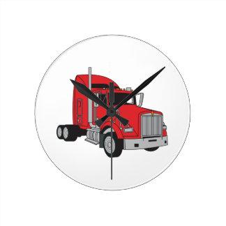 Semi Truck Cab Round Clock