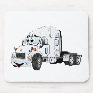 Semi Truck Cab White Mousepads