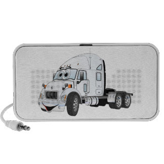 Semi Truck Cab White PC Speakers