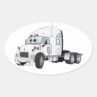Semi Truck Cab White Stickers
