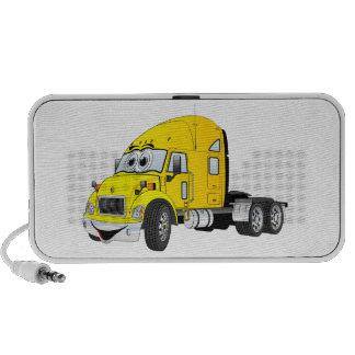 Semi Truck Cab Yellow Travel Speaker