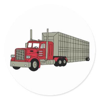 Semi Truck Classic Round Sticker