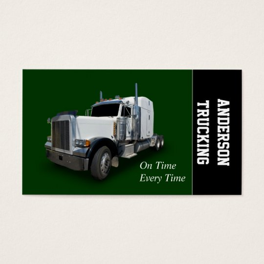 Semi Truck Delivery Business Card